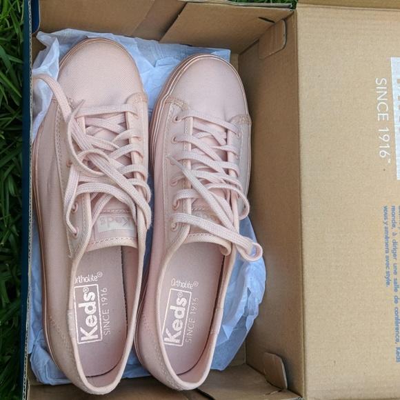 Keds Triple Kick Shimmer Blush Shoes